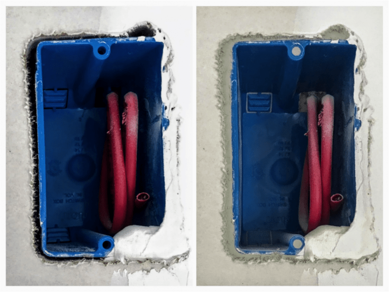 Aerobarrier Before and after application During Blower Door test